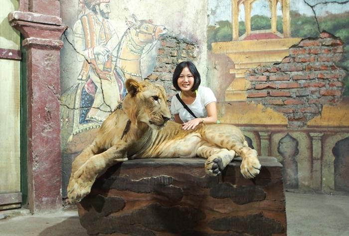 動物と記念撮影