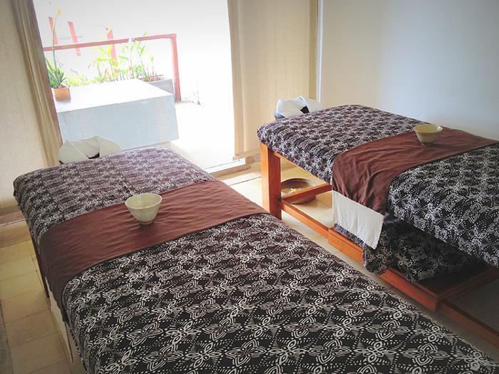 スパルームはシングルルーム、ツインルーム合計9部屋。