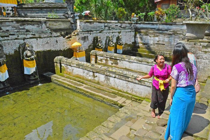ゴアガジャ遺跡の沐浴場。