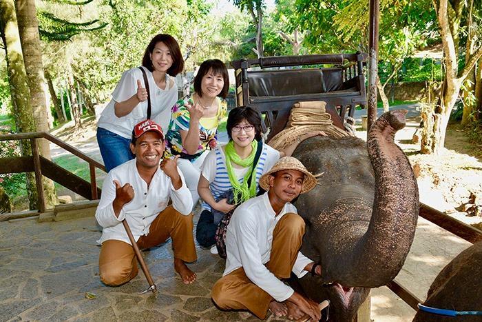 エレファントライド終了。象さんありがとうございました。