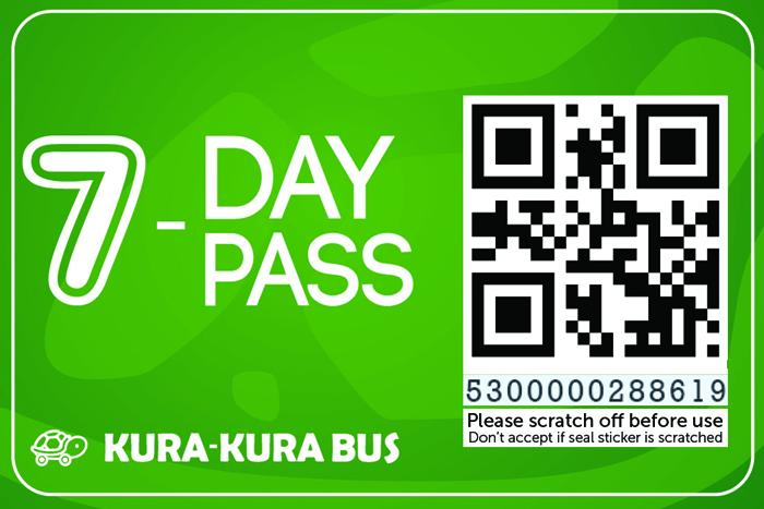 7日間バス乗り放題チケット