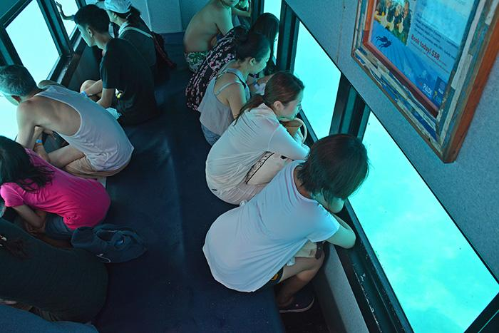 半潜水艦ツアーにも参加して水中観察。