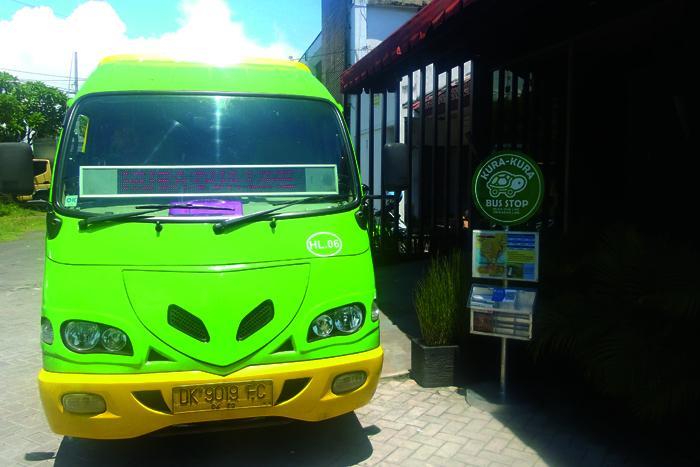 クラクラバス専用のバス停から乗降車可能です。