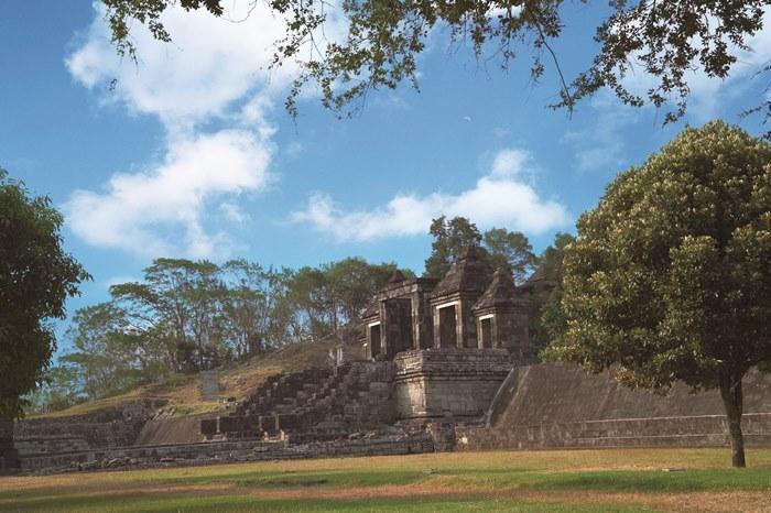 約250 ヘクタールの敷地の中に遺跡があります。