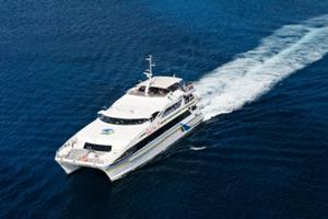 バリハイⅡ号がべノア港へ向かい出航。