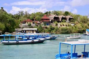 スピードボートでバリ島を出発