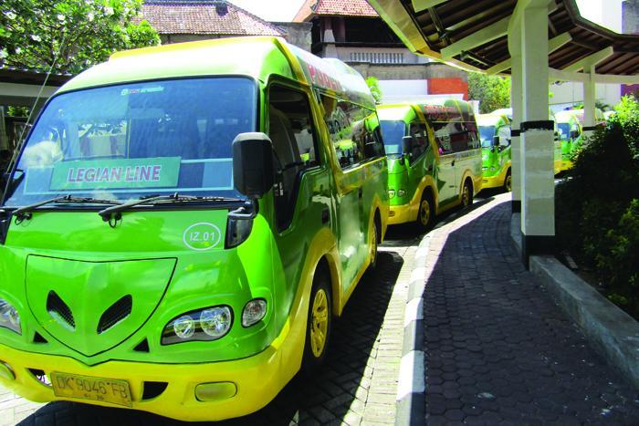DFSギャラリアを中心にバリ島の観光エリアを毎日運行しています。