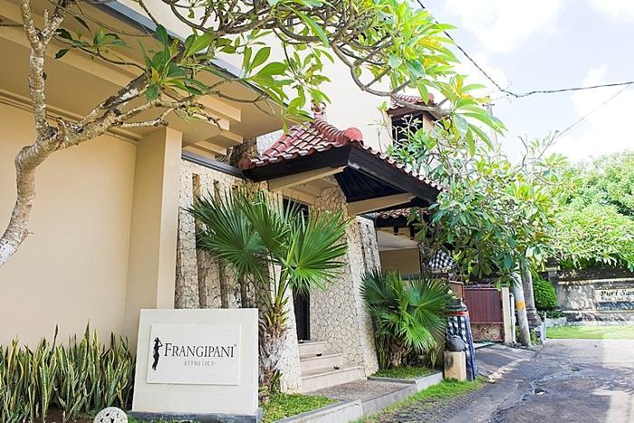 """インドネシアハーブ""""ジャムー""""をコンセプトにした、フランジパニ本館の外観"""