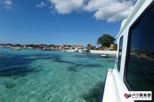 バリ島へ向けてスピードボートで出発